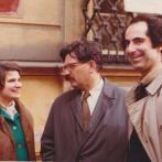 Rita Budínová s Ludvíkem Vaculíkem a Philipem Rothem, 1973