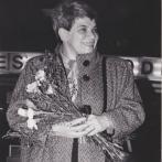Rita Klímová při uvítání Václava Havla na letišti ve Washingtonu 12. 2. 1990