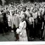 Mluvčí Charty 77 - Kantůrková, Dienstbier, Šustrová Foto: Archiv E. Kantůrkové